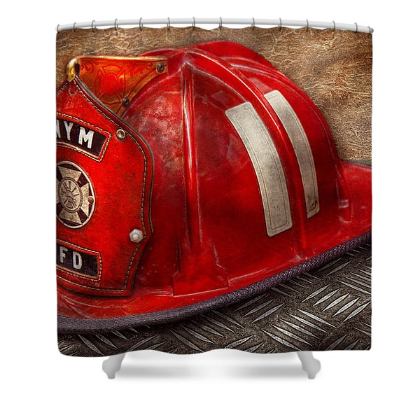 Fireman - Hat - A Childhood Dream Shower Curtain by Mike Savad