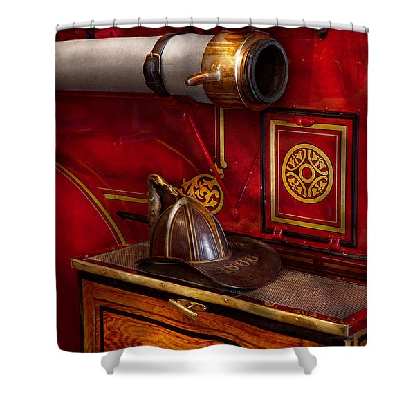 Firemen - An elegant job  Shower Curtain by Mike Savad