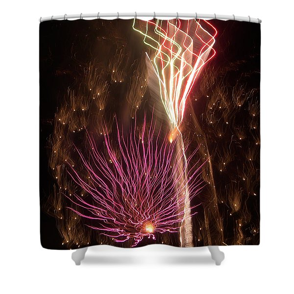 Fireworks Shower Curtain by Aimee L Maher Photography and Art
