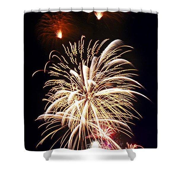 Fireworks Shower Curtain by Elena Elisseeva