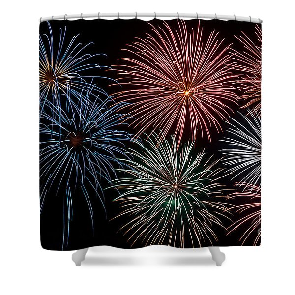 Fireworks Extravaganza 4 Shower Curtain by Steve Purnell