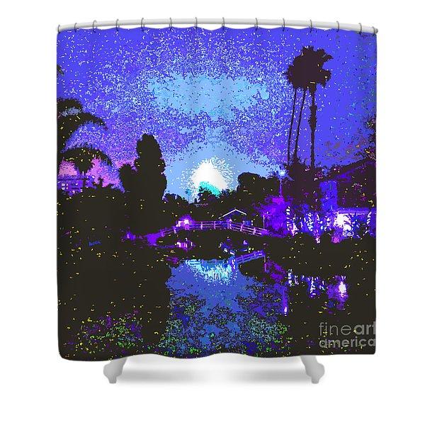 Fireworks Venice California Shower Curtain by Jerome Stumphauzer