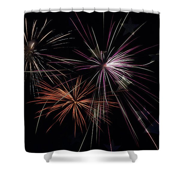 Fireworks With Pride Shower Curtain by Christina Rollo