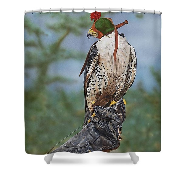 First Flight Shower Curtain by Jackie Mestrom