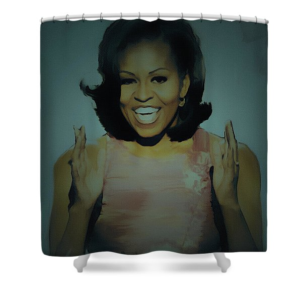 First Lady Shower Curtain by BRIAN REAVES