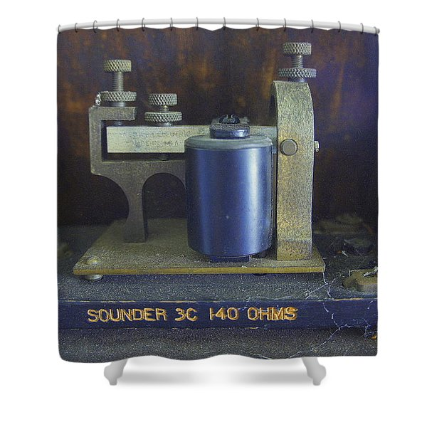 First Messenger Shower Curtain by Laurie Perry