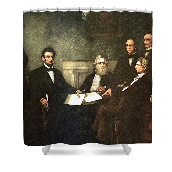First Reading Of The Emancipation Proclamation Of President Lincoln Shower Curtain by Nomad Art And  Design