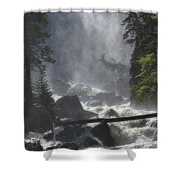 Fish Creek Mist Shower Curtain by Don Schwartz