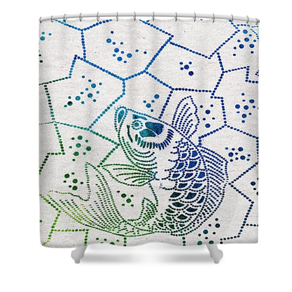Fishing Net Shower Curtain by Aged Pixel