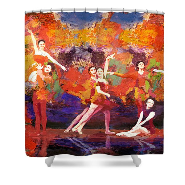 Flamenco Dancer 022 Shower Curtain by Catf
