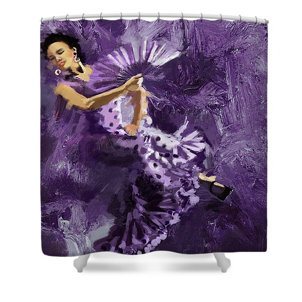 Flamenco Dancer 023 Shower Curtain by Catf
