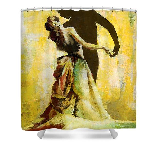 Flamenco Dancer 031 Shower Curtain by Catf
