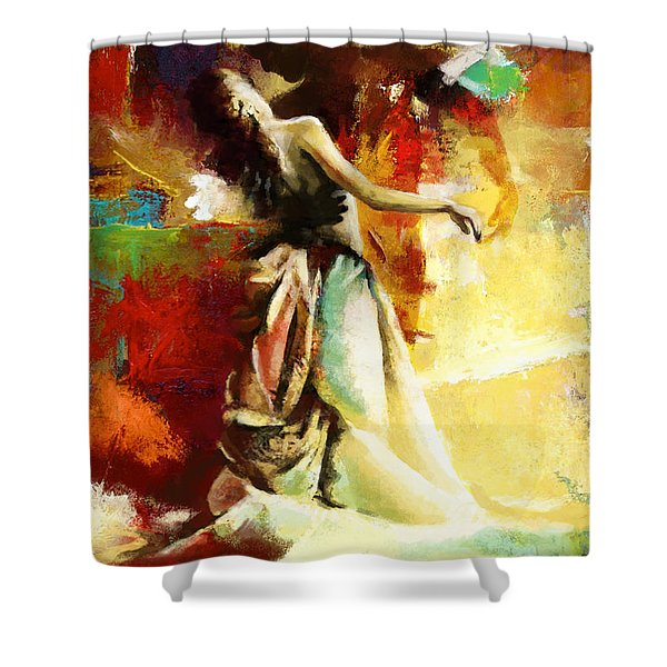 Flamenco Dancer 032 Shower Curtain by Catf