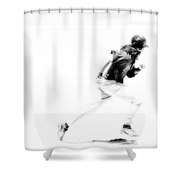 Flash Shower Curtain by Karol  Livote