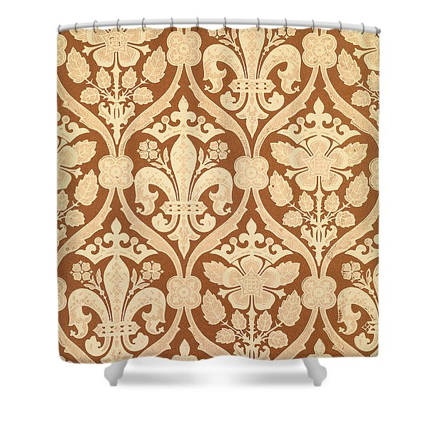 Fleur-de-Lis Shower Curtain by Augustus Welby Pugin