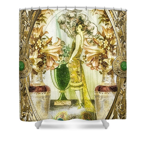 Fleurdelys Shower Curtain by Mo T