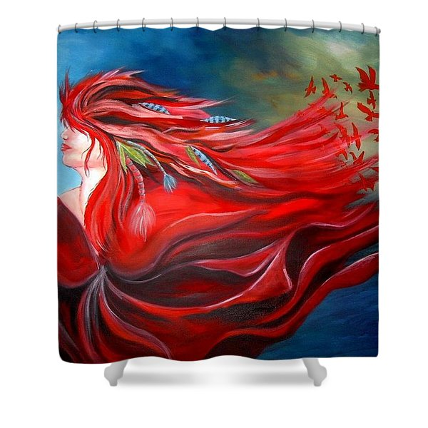 Flight Dreaming Shower Curtain by Michelle Pope