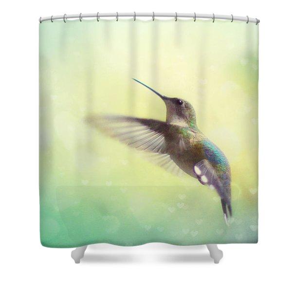 Flight Of Fancy Shower Curtain by Amy Tyler