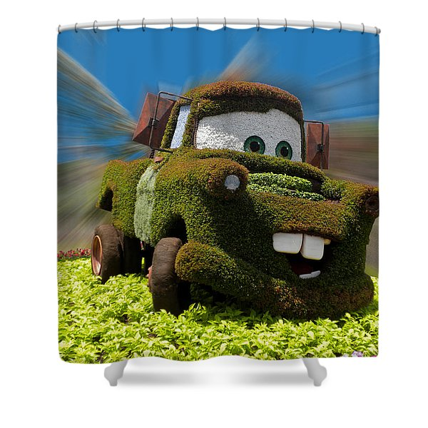 Floral Mater Shower Curtain by Thomas Woolworth