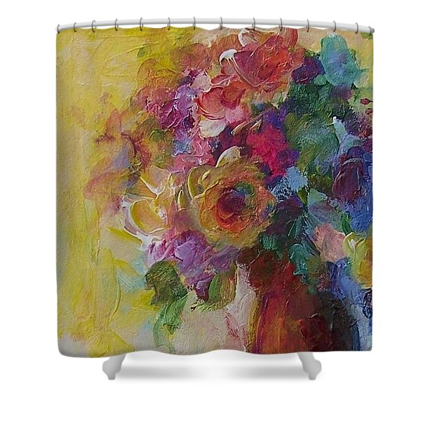 Floral Still Life Shower Curtain by Mary Wolf