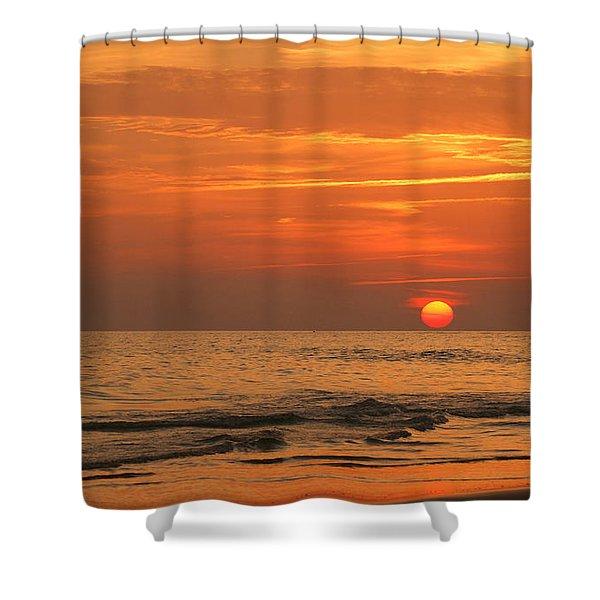 Florida Sunset Shower Curtain by Sandy Keeton