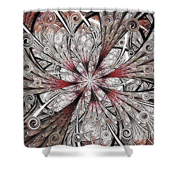 Flower Carving Shower Curtain by Anastasiya Malakhova