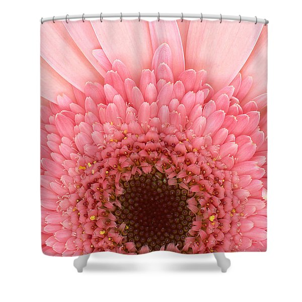 Flower - I LOVE Pink Shower Curtain by Mike Savad