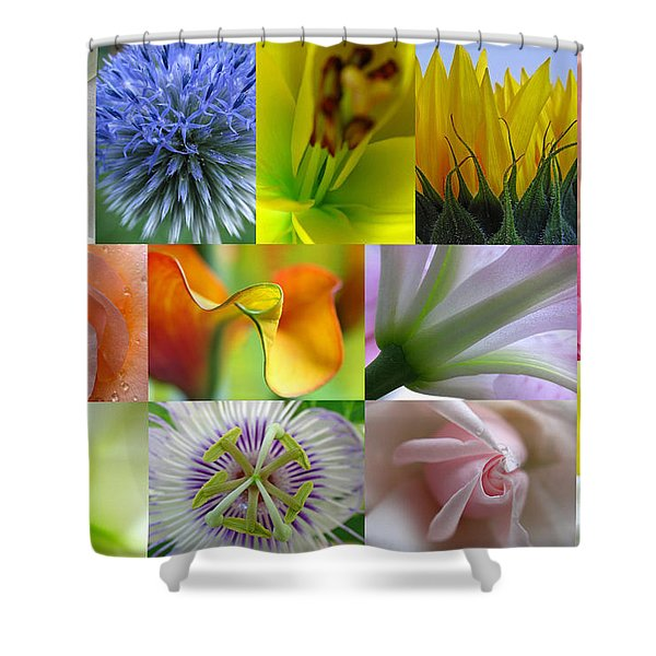 Flower Macro Photography Shower Curtain by Juergen Roth