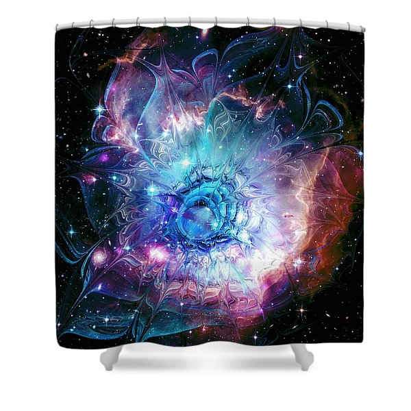 Flower Nebula Shower Curtain by Anastasiya Malakhova