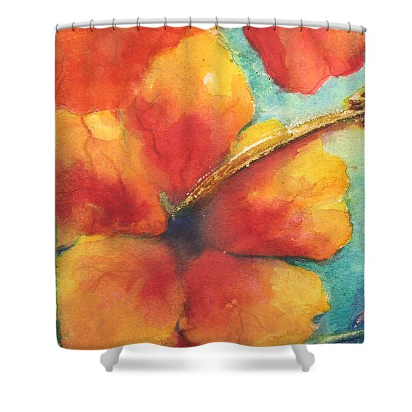 Flowers In Bloom Shower Curtain by Chrisann Ellis