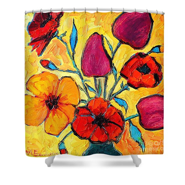FLOWERS OF LOVE Shower Curtain by ANA MARIA EDULESCU