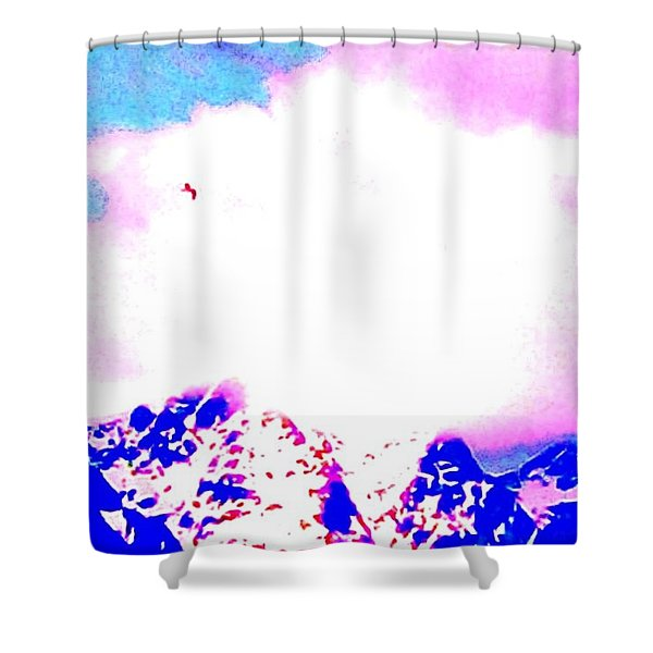 Fly like a bird Shower Curtain by Hilde Widerberg