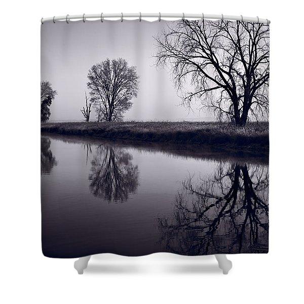 Foggy Morn BW Shower Curtain by Steve Gadomski