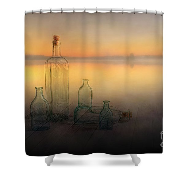 Foggy Morning Shower Curtain by Veikko Suikkanen