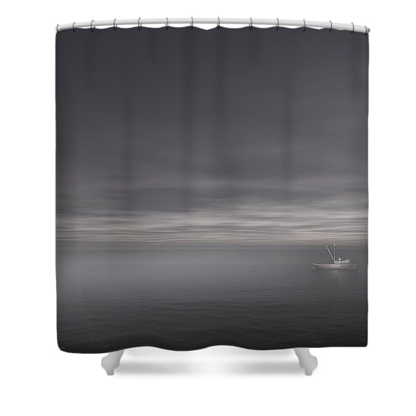 Foggy Stillness Shower Curtain by Lourry Legarde