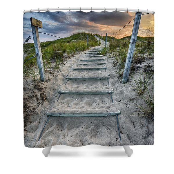 Follow The Path Shower Curtain by Sebastian Musial