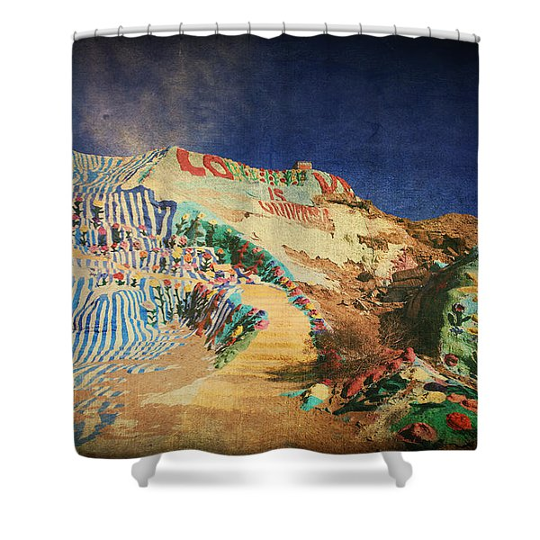 Follow the Yellow Brick Road Shower Curtain by Laurie Search