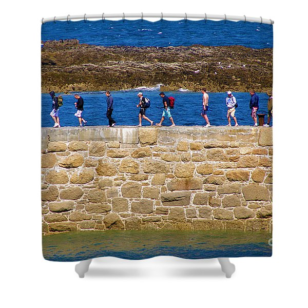Follow the Yellow Brick Road Shower Curtain by Terri  Waters