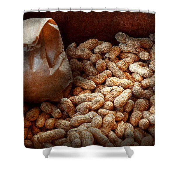 Food - Peanuts  Shower Curtain by Mike Savad