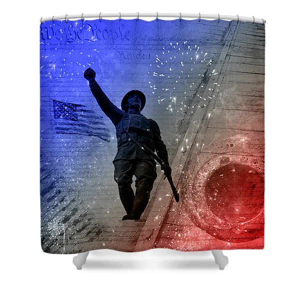 For Freedom Shower Curtain by Fran Riley