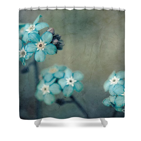 Forget Me Not 01 - s22dt06 Shower Curtain by Variance Collections