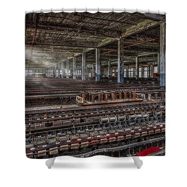 Forgotten Silk Mill Shower Curtain by Susan Candelario