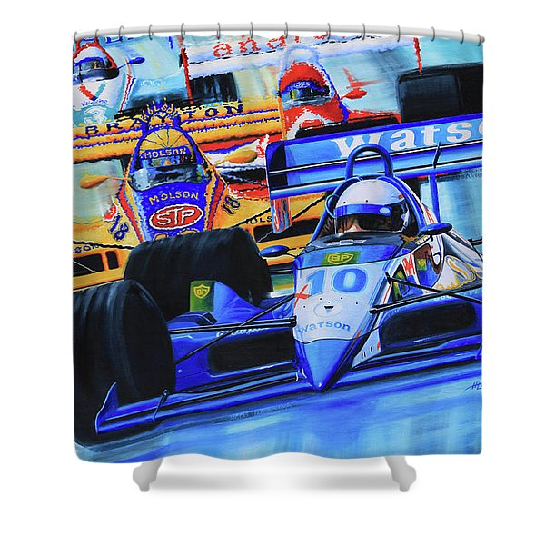 Formula 1 Race Shower Curtain by Hanne Lore Koehler