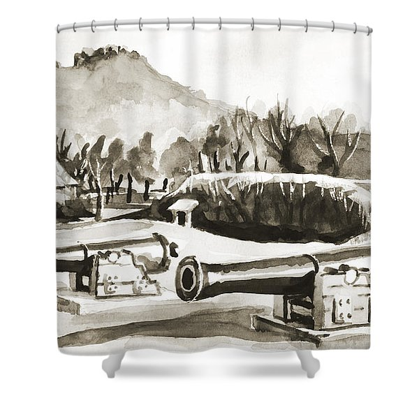 Fort Davidson Cannon IIi Shower Curtain by Kip DeVore