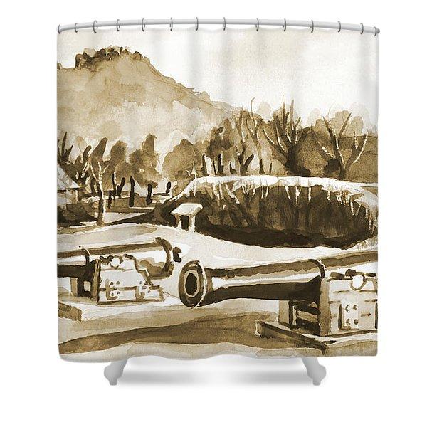 Fort Davidson Cannon Iv Shower Curtain by Kip DeVore