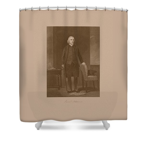 Founding Father Samuel Adams Shower Curtain by War Is Hell Store