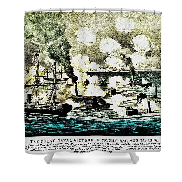 Four Bells Full Speed Shower Curtain by Benjamin Yeager