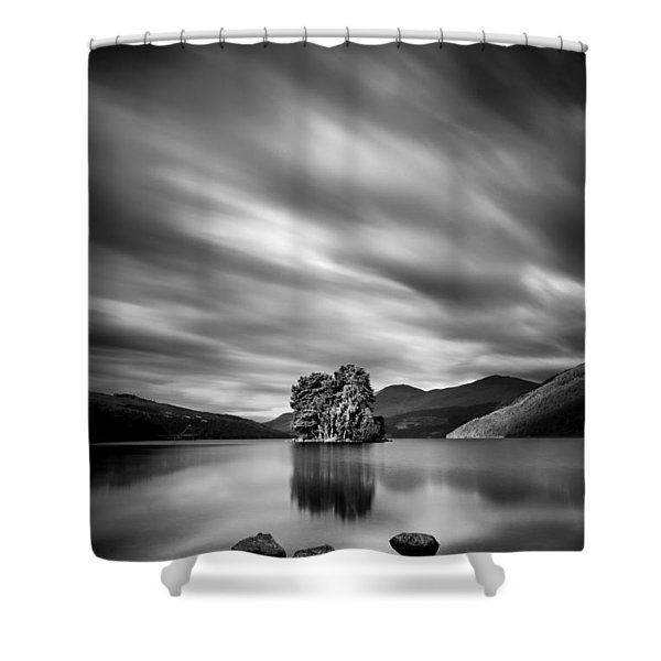 Four Rocks Shower Curtain by Dave Bowman