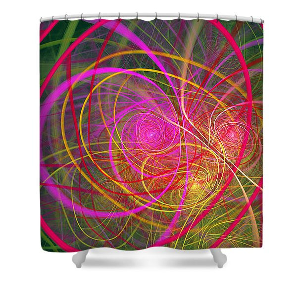 Fractal - Abstract - Loopy Doopy Shower Curtain by Mike Savad