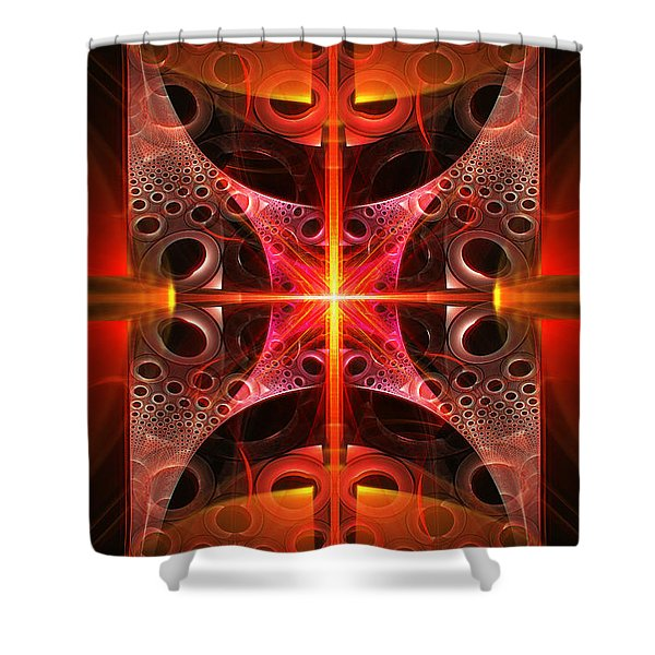 Fractal - Science - Cold Fusion Shower Curtain by Mike Savad